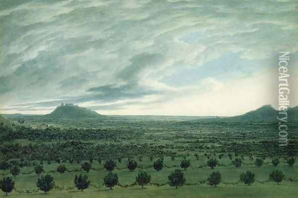 View from Mirabella, c.1782 Oil Painting - John Robert Cozens