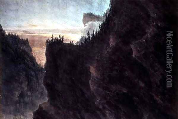 Entrance to the Valley of the Grande Chartreuse Oil Painting - John Robert Cozens