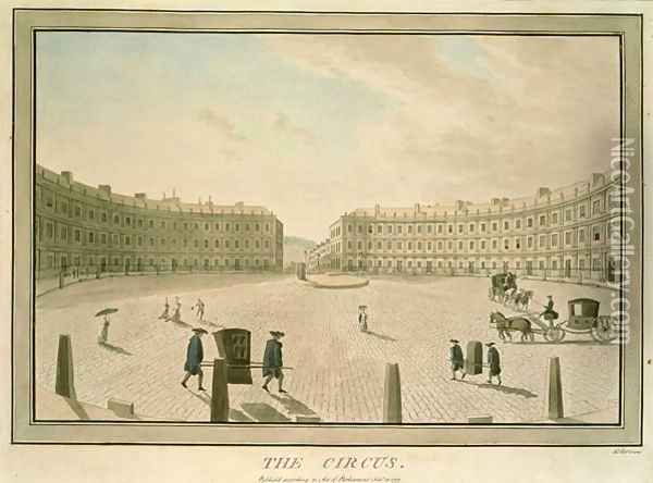 The Circus Bath, 1773 Oil Painting - John Robert Cozens