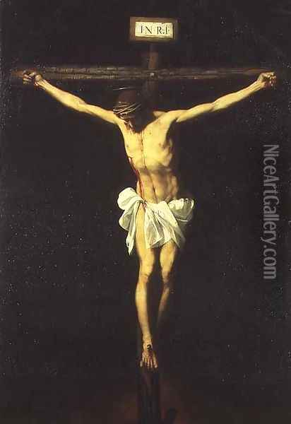 The Crucifixion, late 1630s Oil Painting - Alonso Cano