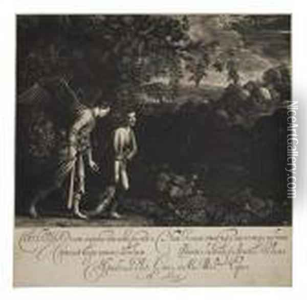 Tobias And The Angel Oil Painting - Hendrick Goudt
