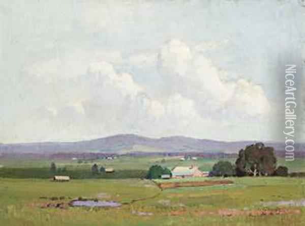 Rural Landscape, New South Wales Oil Painting - Elioth Gruner