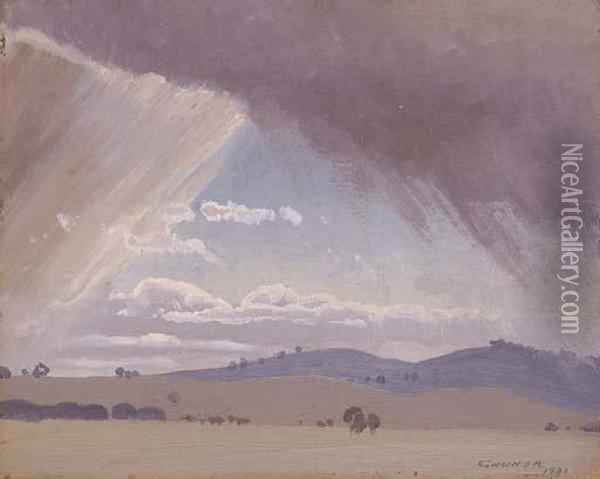 Storm Clouds Oil Painting - Elioth Gruner