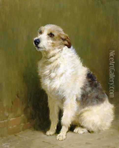 Portrait of Pilu, a Performing Dog, 1910 Oil Painting - John Charlton
