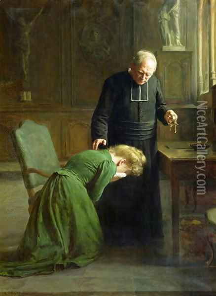 The Restitution 1901 Oil Painting - Remy Cogghe