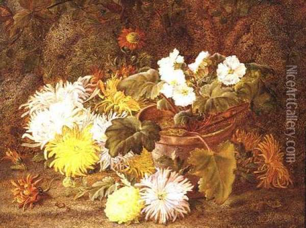 Still Life with Flowers Oil Painting - Vincent Clare