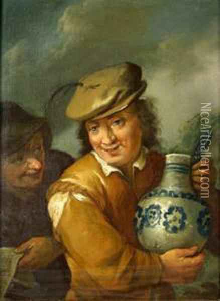 Man Holding A Jug Oil Painting - Frans Hals
