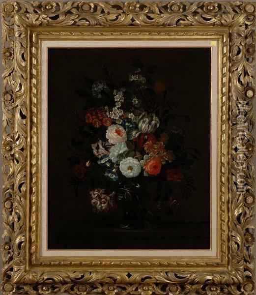 Floral Still Life Oil Painting - Pieter Hardime