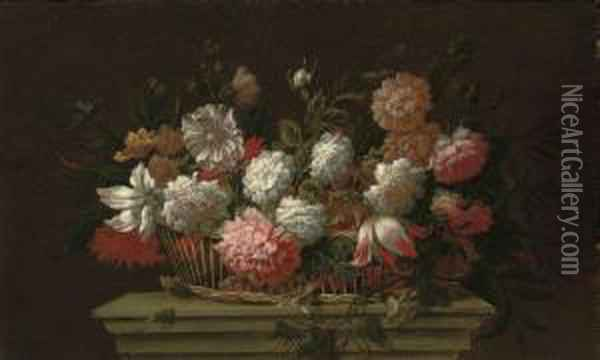 Carnations, Chrysanthemums, 