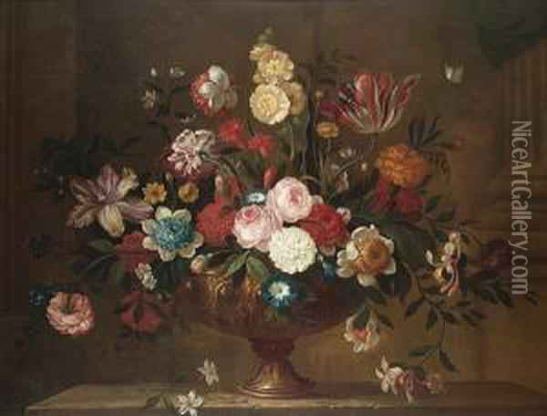 Tulips, Carnations, Roses, 
