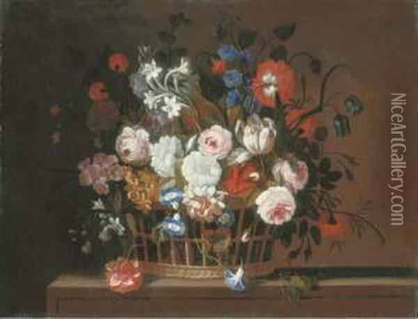 Roses, Tulips, Morning Glory, 