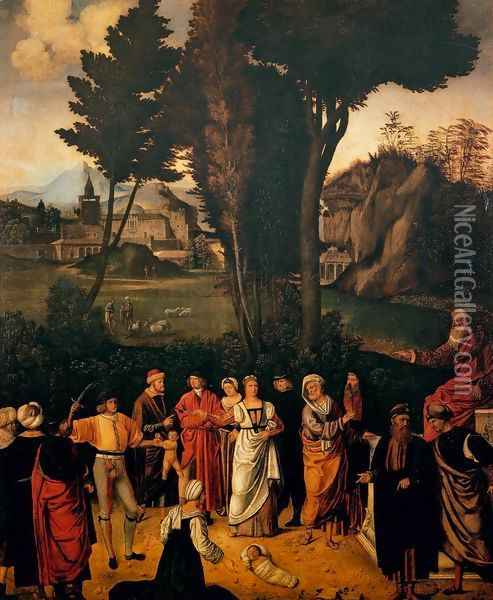 The Judgment of Solomon Oil Painting - Giorgione