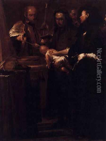Baptism 1712 Oil Painting - Giuseppe Maria Crespi