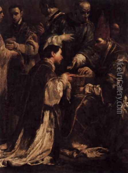 Ordination 1712 Oil Painting - Giuseppe Maria Crespi