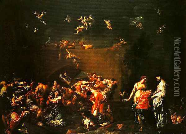 The Massacre of the Innocents Oil Painting - Giuseppe Maria Crespi