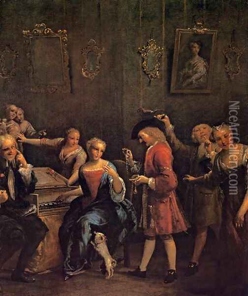 The Courted Singer Oil Painting - Giuseppe Maria Crespi