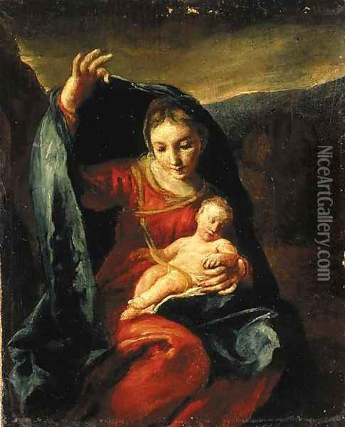 The Madonna and Child Oil Painting - Giuseppe Maria Crespi