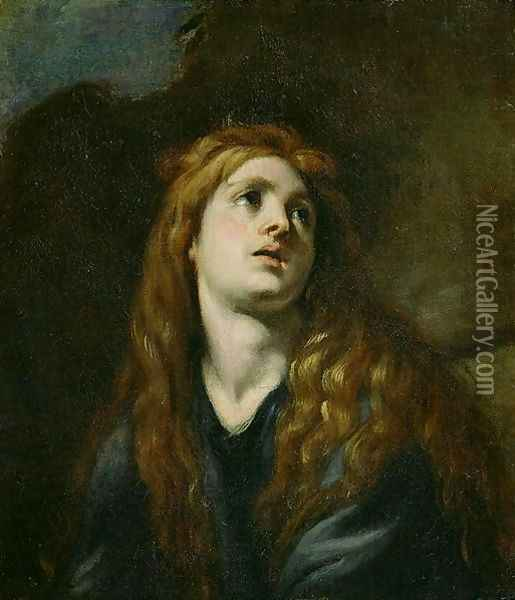 The Penitent Magdalene Oil Painting - Claudio Coello