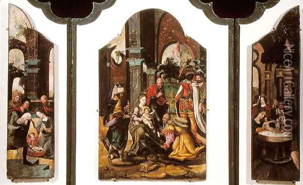 The Adoration of the Magi (2) Oil Painting - Pieter Coecke Van Aelst