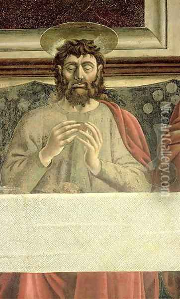 The Last Supper, detail of St. James the Greater, 1447 Oil Painting - Andrea Del Castagno