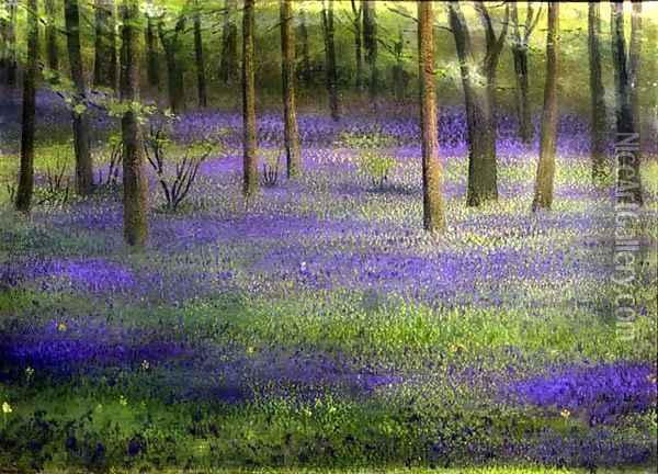 Bluebell Wood Oil Painting - Edward Clifford