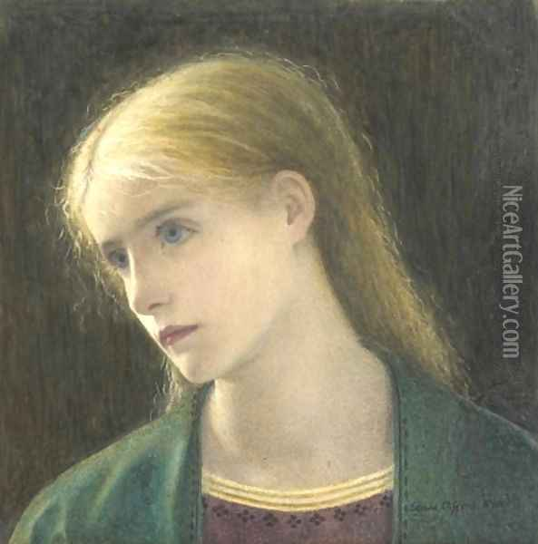 Evelyn Hope Oil Painting - Edward Clifford