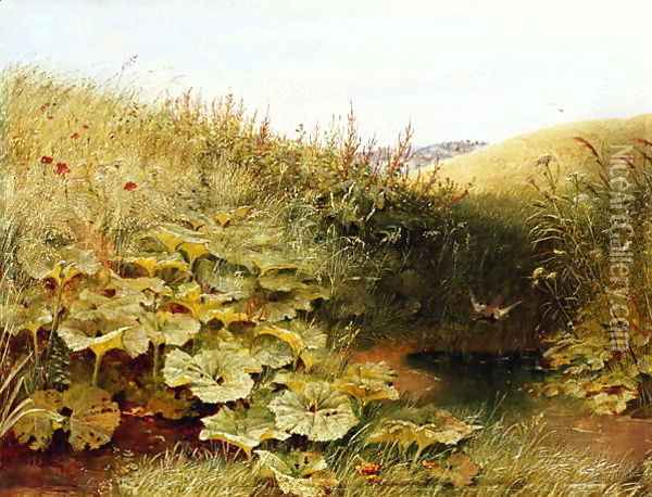 A Quiet Dell Oil Painting - Robert Collinson