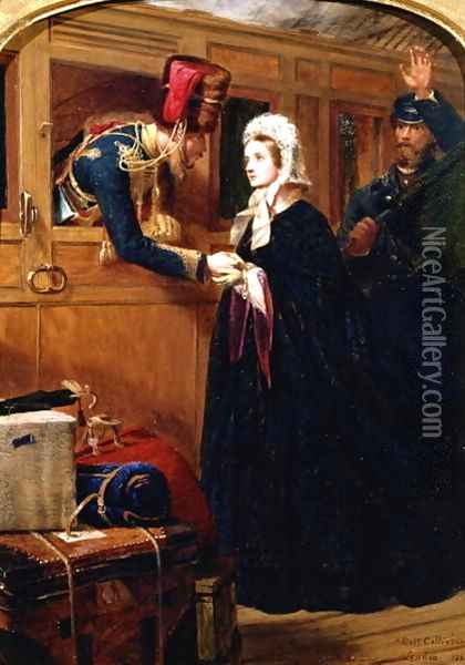 Recalled on Service, 1863 Oil Painting - Robert Collinson