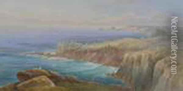 Cornish Coastal Views Oil Painting - Thomas Hart