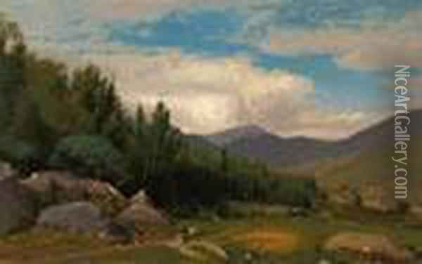 Scene In The White Mountains Oil Painting - William Howard Hart