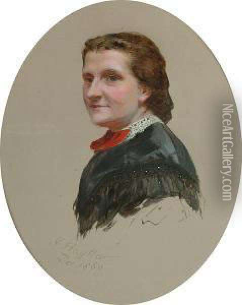 Study Of A Gentleman Together With A Study Of A Lady Oil Painting - James Hayllar