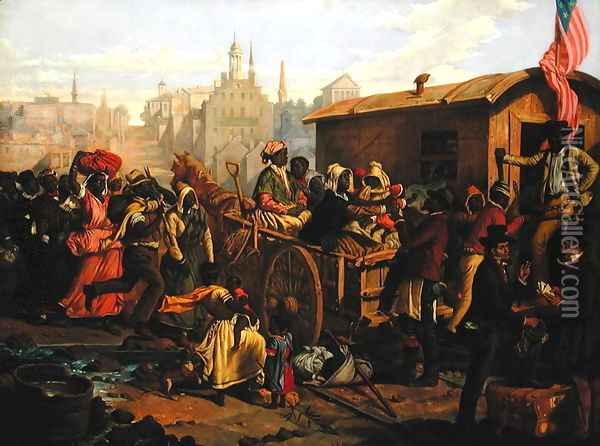 After the Sale, 1853 Oil Painting - Eyre Crowe