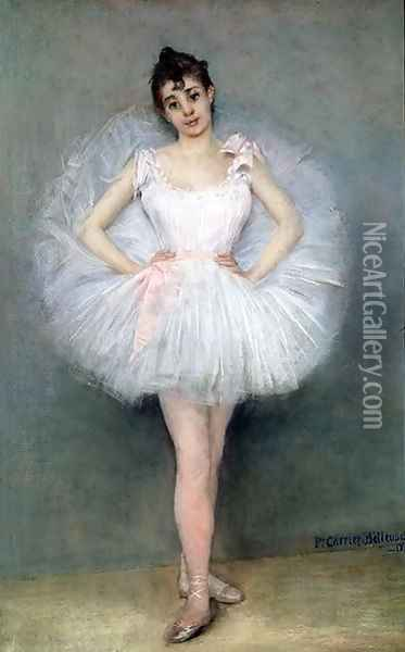 Portrait of a Young Ballerina Oil Painting - Pierre Carrier-Belleuse