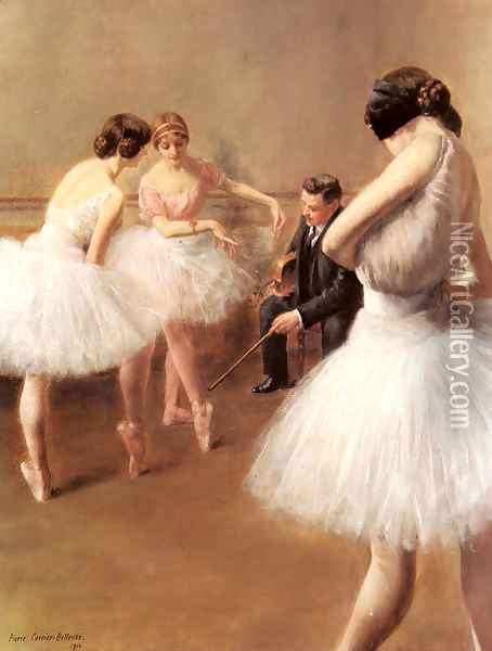 The Ballet Lesson Oil Painting - Pierre Carrier-Belleuse
