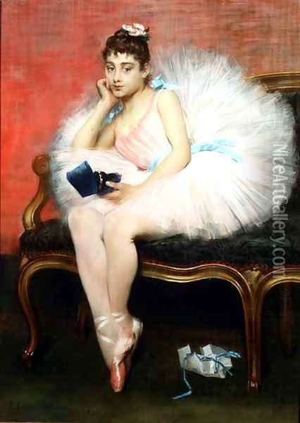 The Present, 1890 Oil Painting - Pierre Carrier-Belleuse