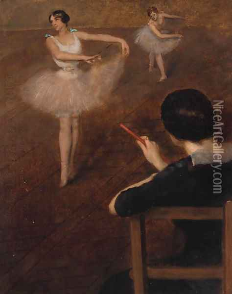 The ballet class Oil Painting - Pierre Carrier-Belleuse