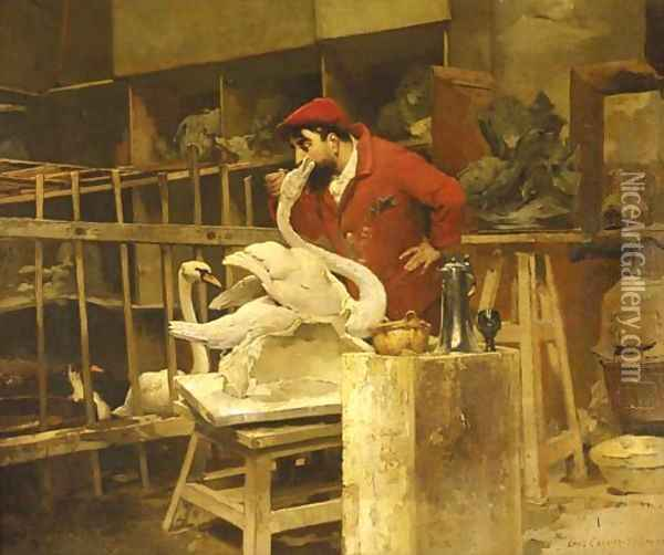 The Animal Sculptor Oil Painting - Pierre Carrier-Belleuse