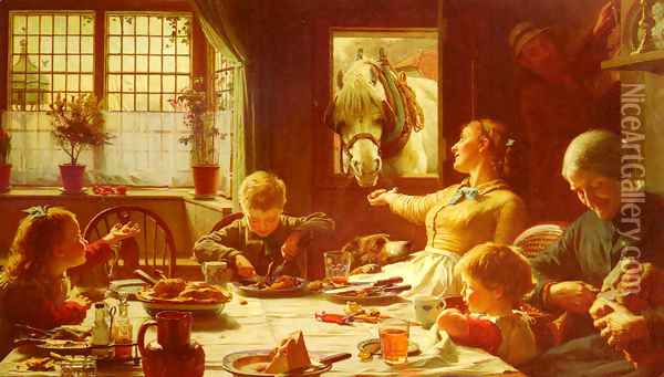 One Of The Family Oil Painting - Frederick George Cotman