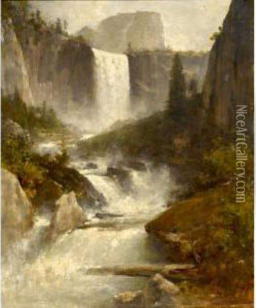 Vernal Falls Oil Painting - Thomas Hill
