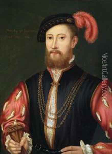 Ritratto Maschile Oil Painting - Hans Holbein the Younger