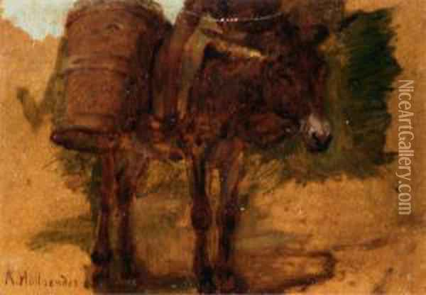 Asino Con Soma Oil Painting - Alfons Hollaender
