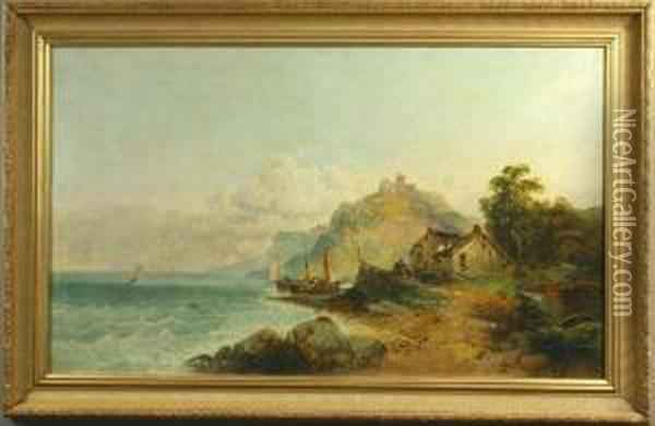 William Horlor, English Coast, O/c Oil Painting - George W. Horlor
