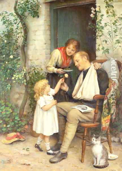 Home from the War Oil Painting - Joseph Clark