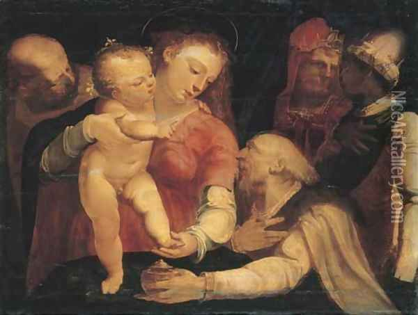 The Adoration of the Magi Oil Painting - Luca Cambiaso