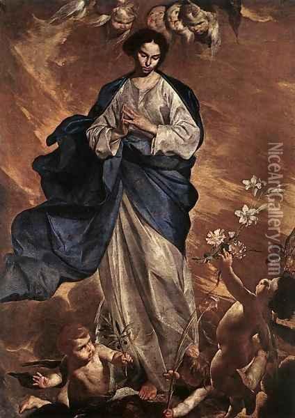 The Blessed Virgin 1650 Oil Painting - Bernardo Cavallino