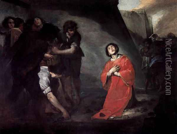 Martyrdom of St Stephen Oil Painting - Bernardo Cavallino