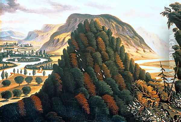 The Connecticut Valley Oil Painting - Thomas Chambers