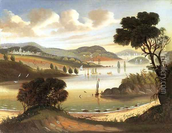 West Point on the Hudson River Oil Painting - Thomas Chambers