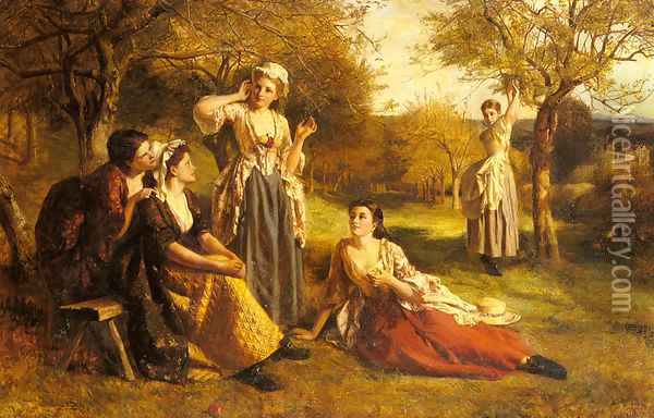 A Love Spell Oil Painting - George Frederick Chester