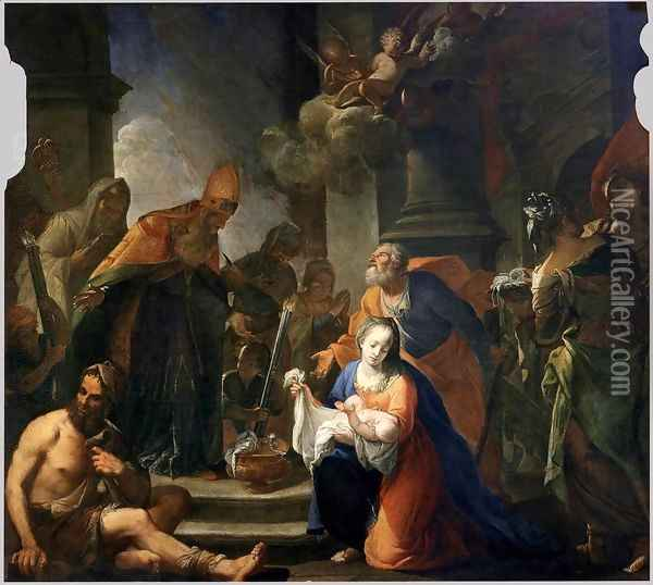 Presentation of Jesus at the Temple Oil Painting - Andrea Celesti